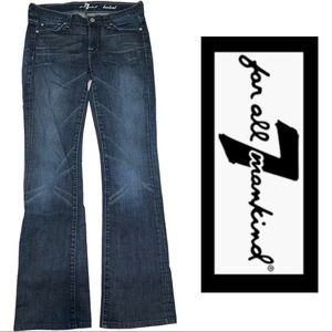 7 for all Mankind medium wash Bootcut Jeans Sz 26